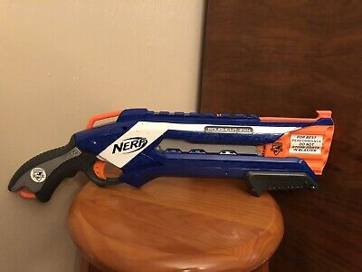 Roughcut 2x4 Nerf N-Strike Elite Dart Gun Blue Pump Action