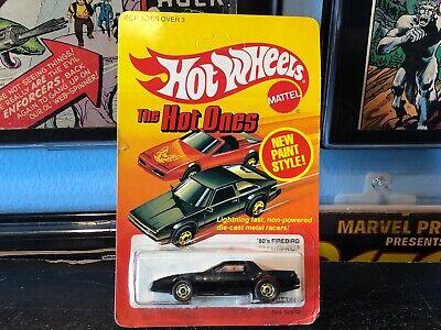 HOT WHEELS THE HOT ONES 80's FIREBIRD 3918 BW // GOOD CARD 1983 Mattel