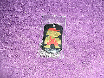 Nintendo Super Mario Brothers Dog Tag Necklace 8 bit MARIO