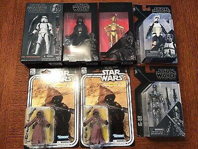 Star Wars Black Series Darth Vader, Stormtrooper, Scout Trooper, IG-88 and C-3PO
