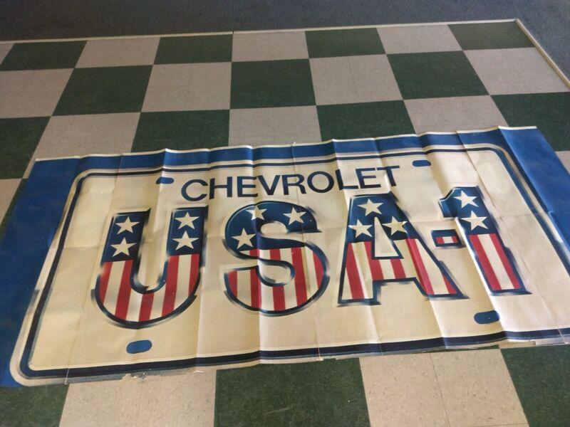 NOS Vintage Chevrolet Dealership Showroom Advertising Poster USA-1