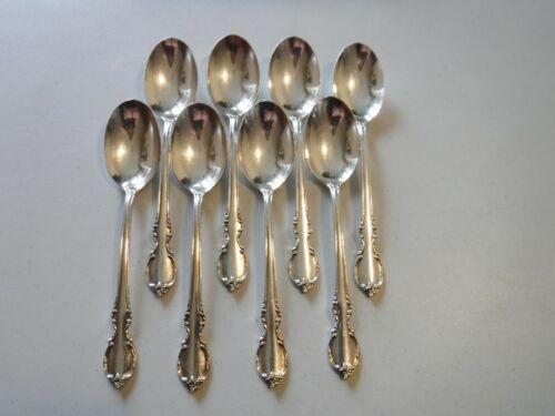 "8 International 1847 Rogers Reflection Teaspoons 6 1/8"" Silverplate"
