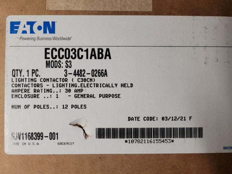 EATON C30CN 30A 12P Electrically Held Lighting Contactor Enclosure ECCO3C1ABA VN