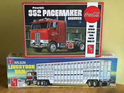 AMT 1/25 Peterbilt 352 Cabover and AMT 1/25 Wilson