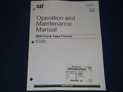 Cat Caterpillar D6n Tractor Dozer Operation Maintenance Manual Sn Ljr Ghs Mlw