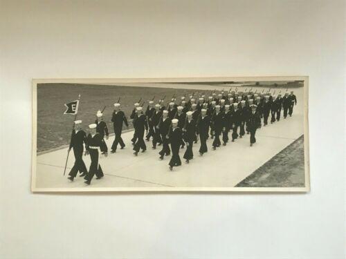 Vintage B&W Photo of US Coast Guard Recruits Marching Cape May NJ Viet Nam Era