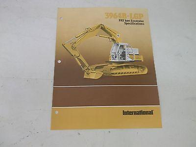 International Harvester 3964b Lgp Pay Hoe Excavator Specifications Brochure