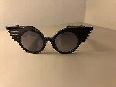 Jeremy Scott LINDA FARROW Wings Sunglasses Black JSWINGSC1SUN (Linda Farrow Jeremy Scott)