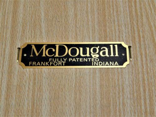 McDougall Cabinet Label Hoosier Sellers Boone Wilson Flour Bin