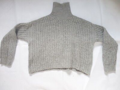 Authentic JUCCA women's designer knitwear polo neck Jumper, winter Sweater, M/L