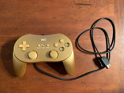 Nintendo Wii Gold Classic Pro Controller