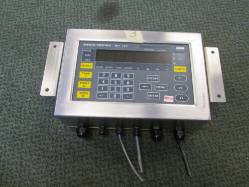 Weigh-Tronix Stainless Steel Digital Scale Indicator WI-127, 240V Only, Used
