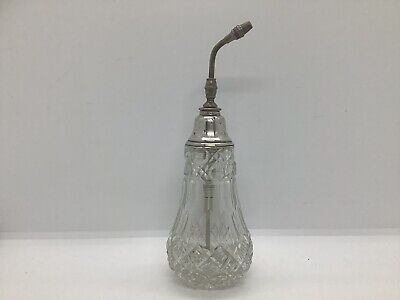 Sterling Silver Collared Perfume Bottle c1916
