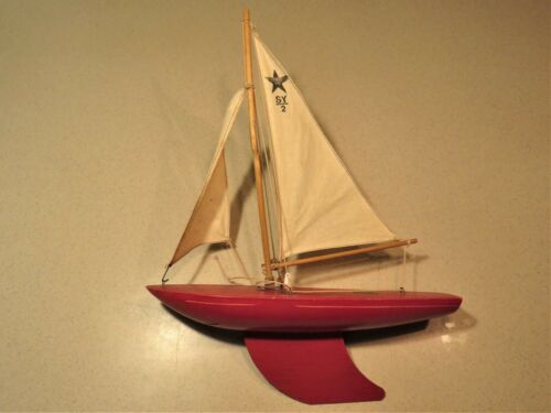 "SK2 ""STAR"" YACHT POND SAIL BOAT  MADE IN ENGLAND BIRKENHEAD 12""x 16"""