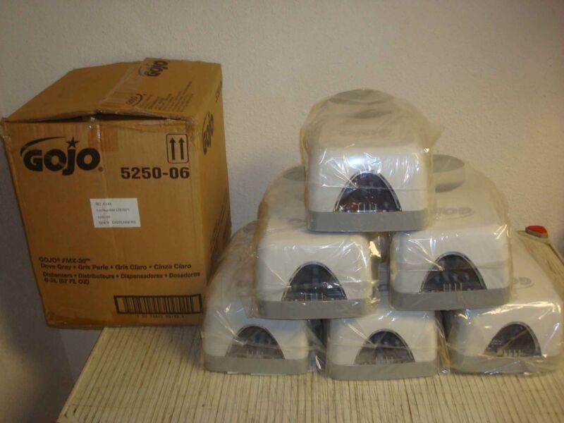 GOJO 5250-06 6 PACK FMX-20 DOVE GRAY SOAP DISPENSERS