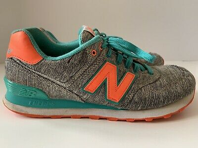 New Balance Women's 574 Classic Sneaker Shoes Gray/Pink/Teal Size 10 WL574GTD