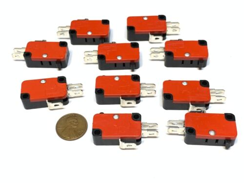 10 Pieces Bump Micro Limit Switch with no Lever v-15-1c25 15A 125/250VAC A14