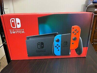 🔥 SHIPS FREE  🔥 Nintendo Switch 32GB Console w/ Neon Red/Blue Joy-Cons