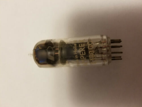 AMPEREX  PINCH WAIST D-GETTER TYPE 7062  VACUUM TUBE   - HOLLAND -  TWO PIECE