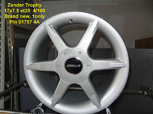 GENUINE-ZENDER-TROPHY-WHEEL-17x7-5-4x100-ALLOY-RIM-MAG-SPARE
