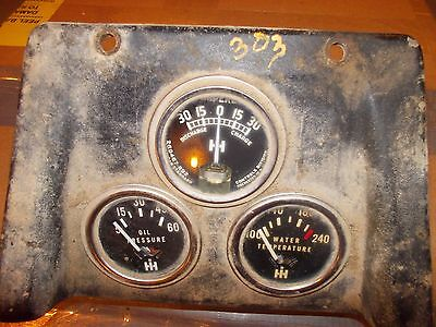 International 303 Combine Farmall Tractor Ih Dash Panel Ihc Gauge Gauges