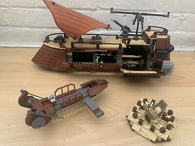 LEGO 6210 Star Wars Jabba's Sail Barge (2006) - LOOK - Nearly complete