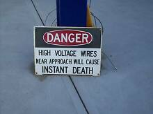 1960 Enamel (ac/dc) High Voltage instant death sign Moonah Glenorchy Area Preview
