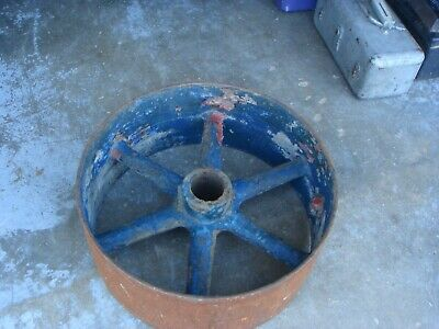Vintage Antique Cast Iron 20 Flat Belt Pulley Line Shaft Gas Hit Miss Engine