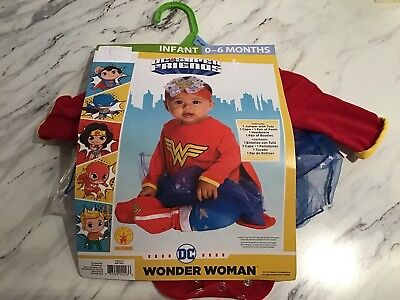 New Wonder Woman DC Comics Baby Costume 0-6 Months Cosplay