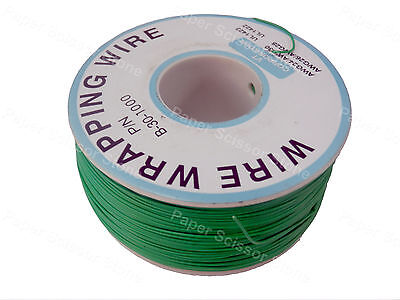 Green 1000ft 30awg Wrapping Wire Cable Roll