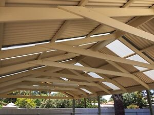 ******Near New Pitched Roof Pergola with Installation**** Felixstow Norwood Area Preview