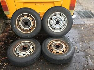 "VW 15""  4x130 Original Steel Wheels - Beetle / Type 3 / Fastback Ryde Ryde Area Preview"