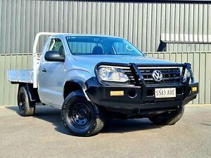 2012 Volkswagen Amarok 2H MY12.5 TDI400 4Mot Silver 6 Speed Manual Cab Chassis
