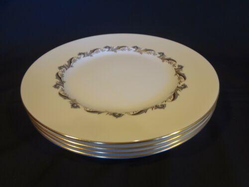 Minton China - Gold Laurentian - Set of 4 Dinner Plates