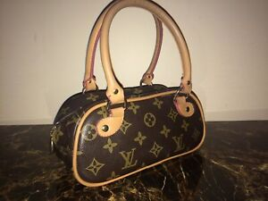 Louis Vuitton BRAND NAME real leather hand bag