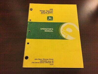John Deere 456 Silage Special Round Baler Operators Manual