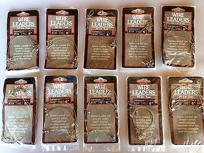 30 Count   Danielson Stainless Steel Wire Fishing Leaders 6 Inch No 938