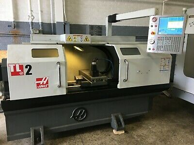 Haas Model Tl-2 Big Bore Cnc Flat Bed Lathe New 2015