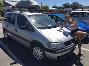 2003 Holden Zafira  5 Sp Manual 4d Wagon