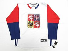 TEAM CZECH REPUBLIC WHITE 2016 WORLD CUP OF HOCKEY ADIDAS PREMIER HOCKEY JERSEY