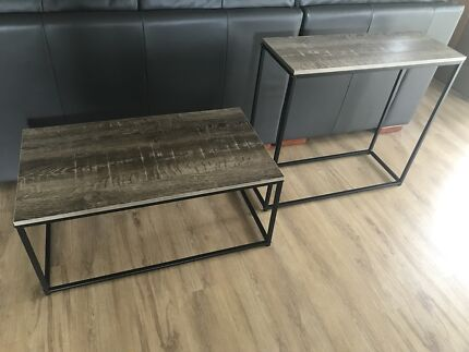 Kmart coffee table and hallway table