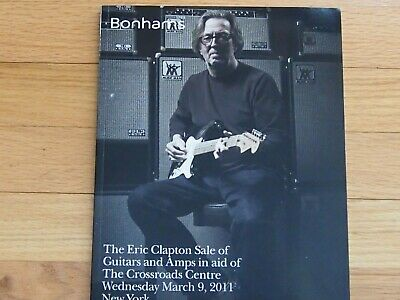 Eric Clapton Bonham Guitar Amp Auction Book Catalog - Eric Clapton Amps