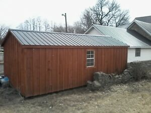 Amish made sheds...  Best price around .. Avail all winter