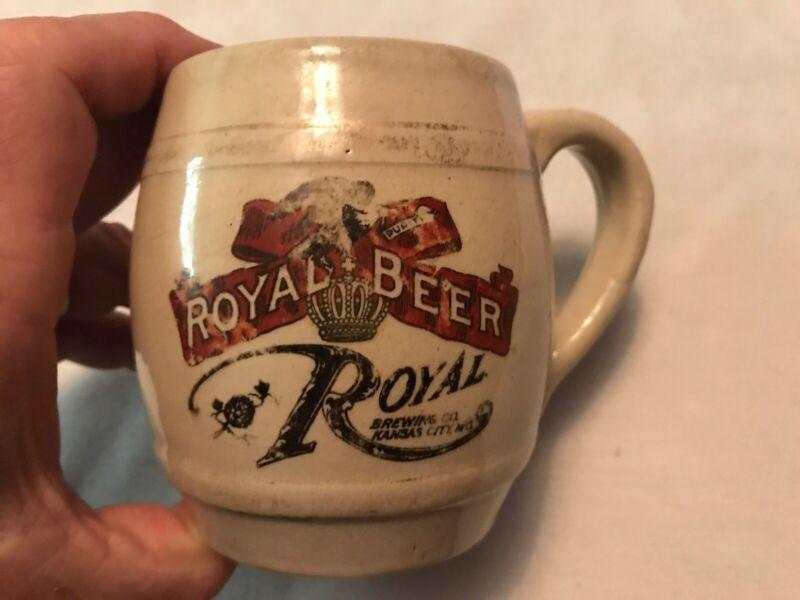 Royal Beer Vintage Stoneware Advertising Mug, Kansas City, Missouri
