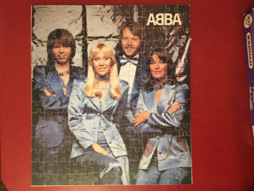ABBA Vintage Jigsaw Puzzle Complete 195 pieces wood Karnan Tra-pussel pop-pussel