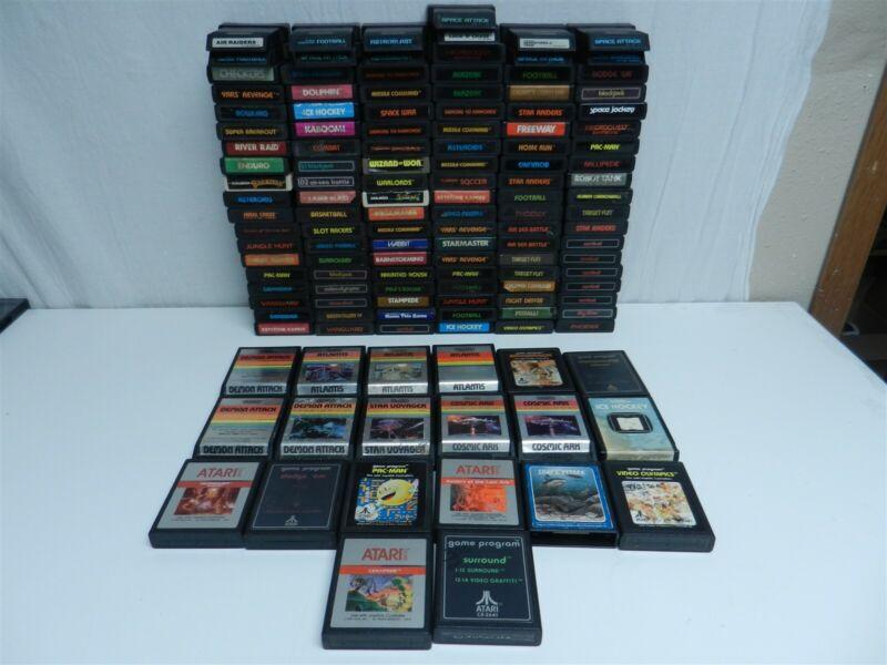Lot of 135 Atari 2600 Games - Pac-Man, Pitfall, Space Invaders