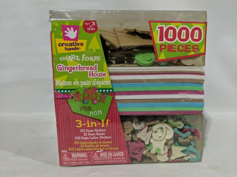 Creative Hands smArt Foam Stickers Gingerbread House 1000 Pieces - New, Sealed