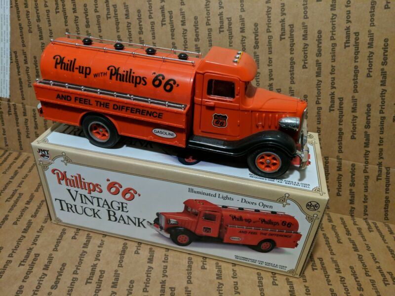 Marx/JMT Phillips 66 Vintage Tanker Truck Bank P66-001