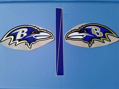 - Baltimore Ravens football helmet decals set