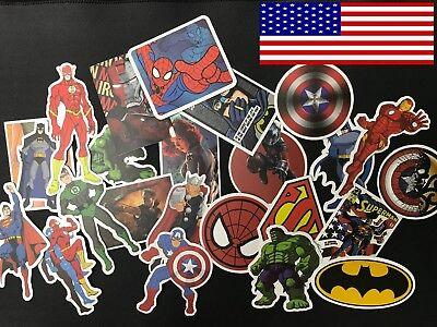 25 Pcs/Lot Stickers MARVEL Avengers Super Hero DC For Car Laptop Skatboard Decal](Marvel Stickers)
